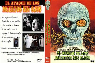 Caratula dvd: El ataque de los muertos sin ojosCaratula dvd: El ataque de los muertos sin ojos