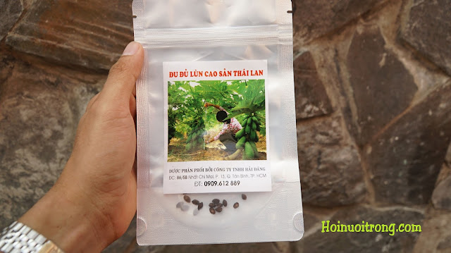 Để tiết kiệm chi phí hạt giống đu đủ lùn, mua theo gói nhỏ sẽ hiệu quả