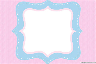 Pink and Light Blue: Free Printable Invitations