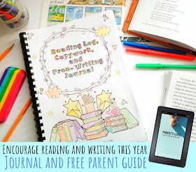 reading log, copywork and free writing journal with parents guide