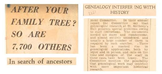Headlines on popularity of family history