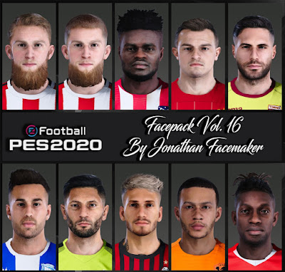 PES 2020 Facepack Vol 16 by Jonathan Facemaker