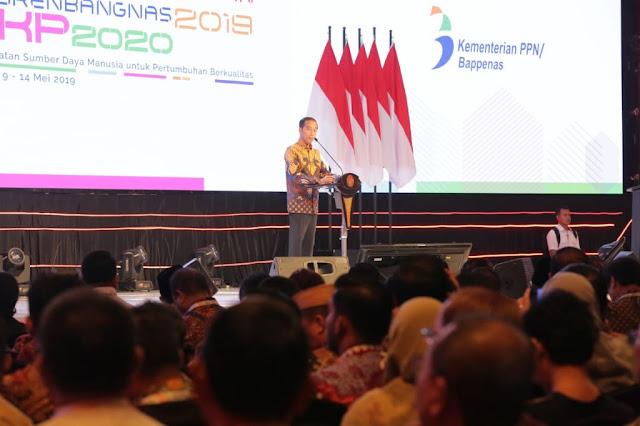 Presiden Jokowi Launching Visi Indonesia 2045 di Musrembangnas 2019