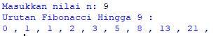 Program Urutan Bilangan Fibonacci Dengan Python