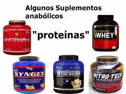 Suplementos proteicos en polvo de tipo anabólico
