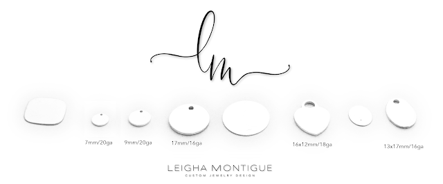 Engravable and Stampable Charms by Leigha Montigue for Bracelets, Necklaces, Earrings and Anklets!