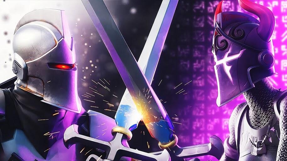 Fortnite Dark Knight Vs Dark Red Knight 4k Wallpaper 5 569