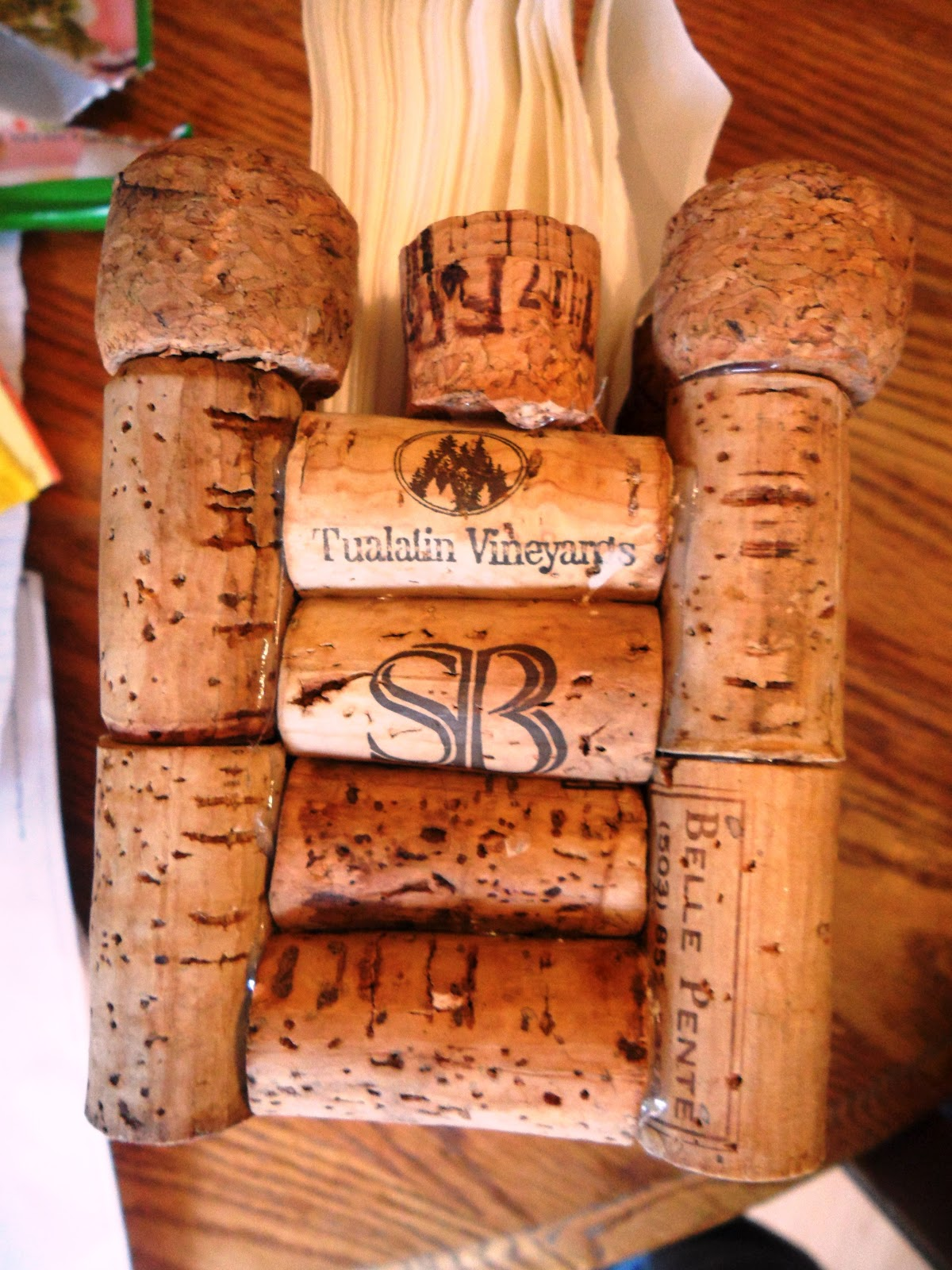 How to create a wine cork napkin holder melissa kaylene for Crafts with wine bottle corks