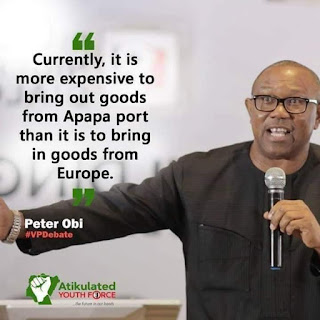 Photos: Check Out Few Points Made by Peter Obi During VP Debates