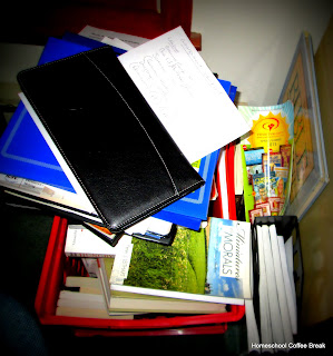 How Do You Keep Homeschool Stuff Organized? Part of the How Do You Homeschool series on Homeschool Coffee Break @ kympossibleblog.blogspot.com
