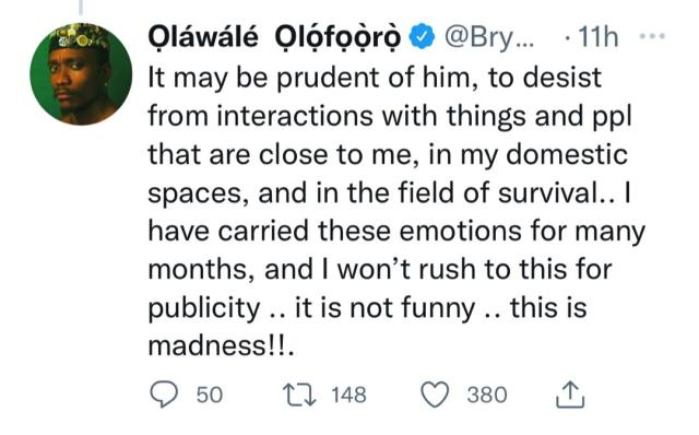 He accused me for having an Affair with his wife- Singer Brymo calls out 2face Idibia