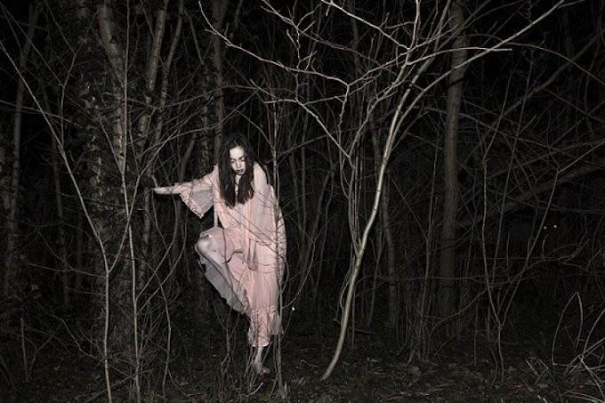 Homestay depan kubur, nampak wanita berkebaya bertenggek atas pokok