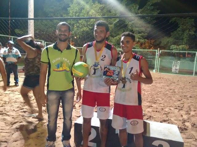 Milagrenses Weliton Santos e Thones Carlos são campeões do 3º campeonato de Vôlei de areia em Brejo Santo