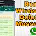 How to Restore and Read Deleted Messages on Whatsapp