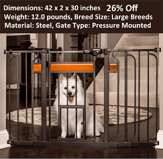 Carlson Design Paw Extra Wide Pet Gate