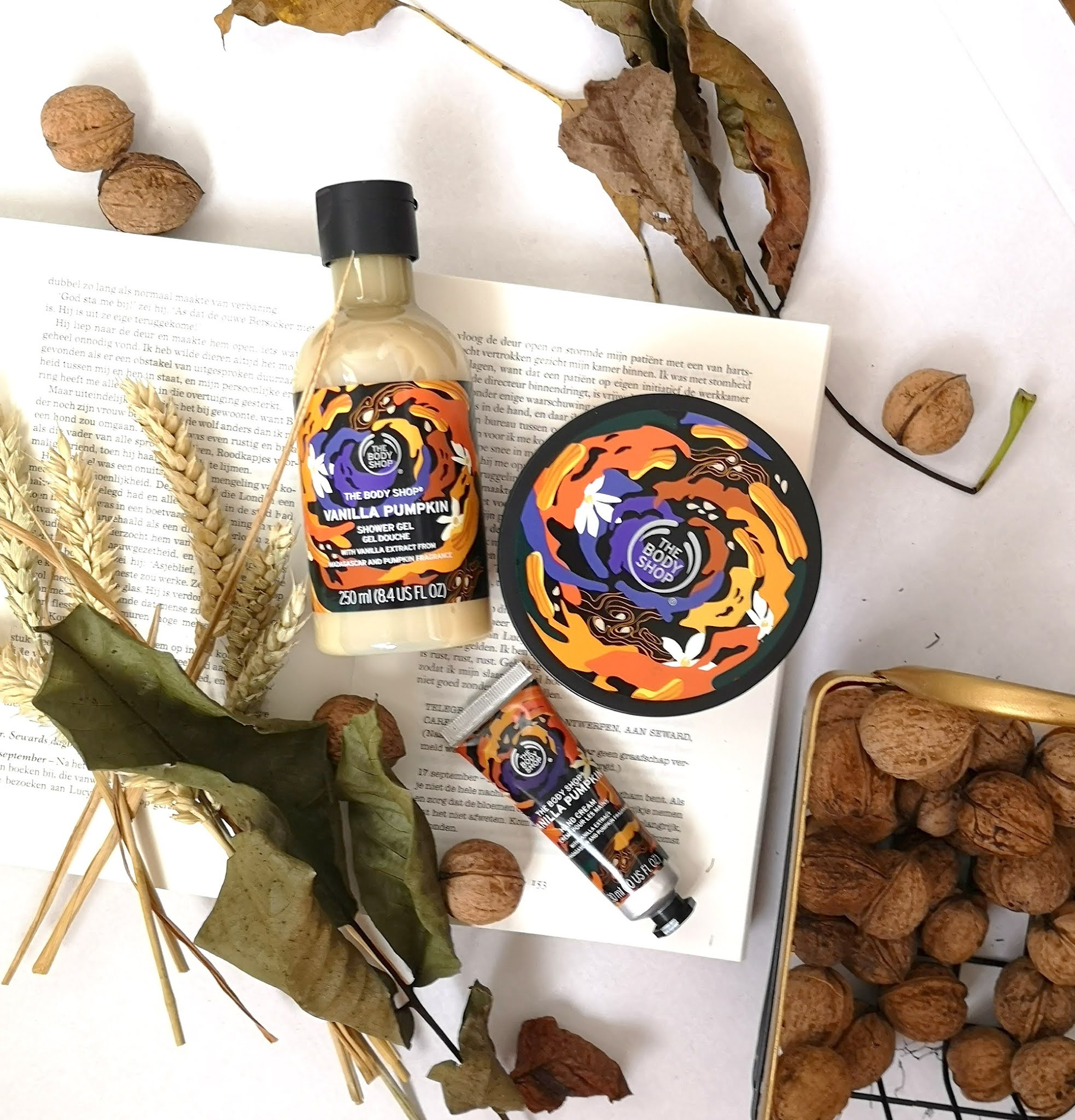 't Is direct herfst met de The body shop vanilla pumpkin lijn