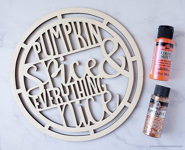 Wooden Pumpkin Spice Sign with Paint