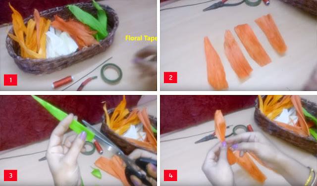 Cara Membuat Bunga Tulip dari Kulit Jagung