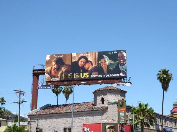 This Is Us TV series billboard