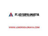 Loker Solo Baru Management Representative dan Salesman di PT Adi Surya Amartya