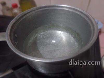 didihkan air