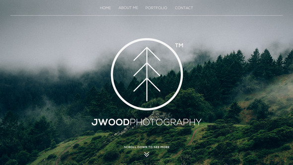 Photography PSD Website Template