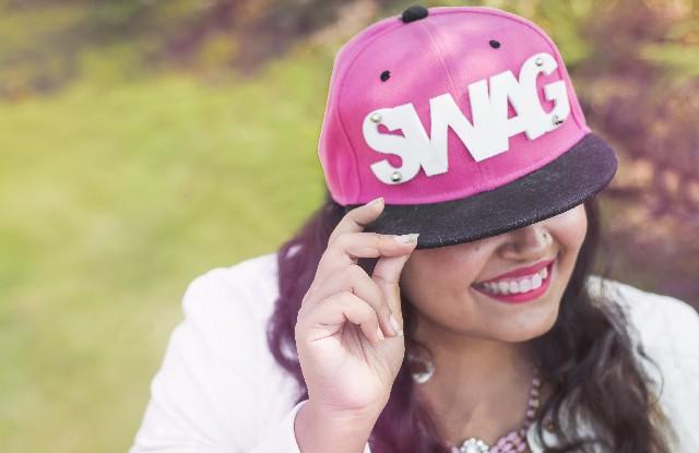 pink swag cap