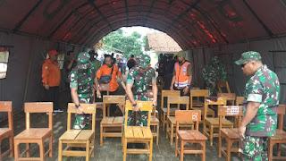 Danrem 061/SK Bogor Tinjau Daerah Terdampak Pasca Gempa, Anak-anak Siswa Tetap Harus Belajar