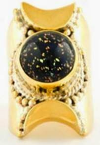 Tantric Crescent Ring