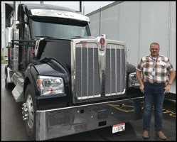 James Williams with a new Kenworth W990