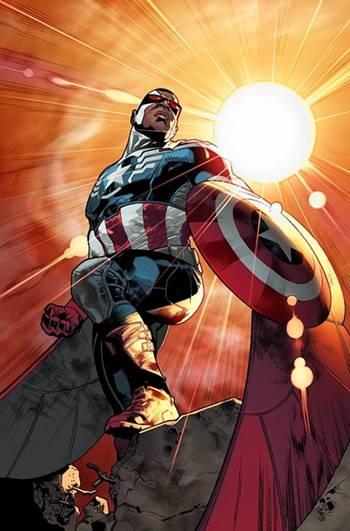Sam Wilson (Halcón) fue el Capitán América en los cómics