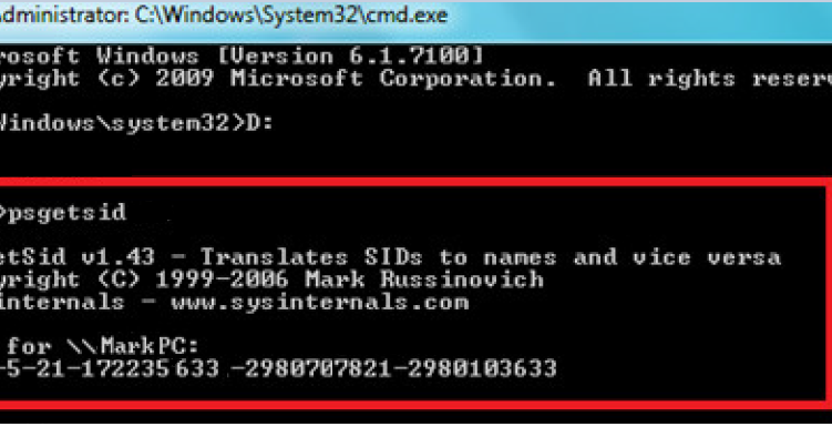 SysAdmino's E-Diary: Find Out Windows SID (Security