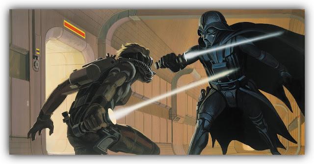 Duel between Luke Skywalker and Darth Vader