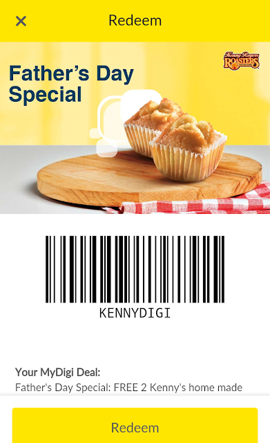 MyDigi App Rewards Free KRR Muffin Father's Day Promo