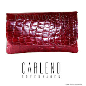 Crown Princess Mary style Carlend Copenhagen Vanessa red Clutch bag