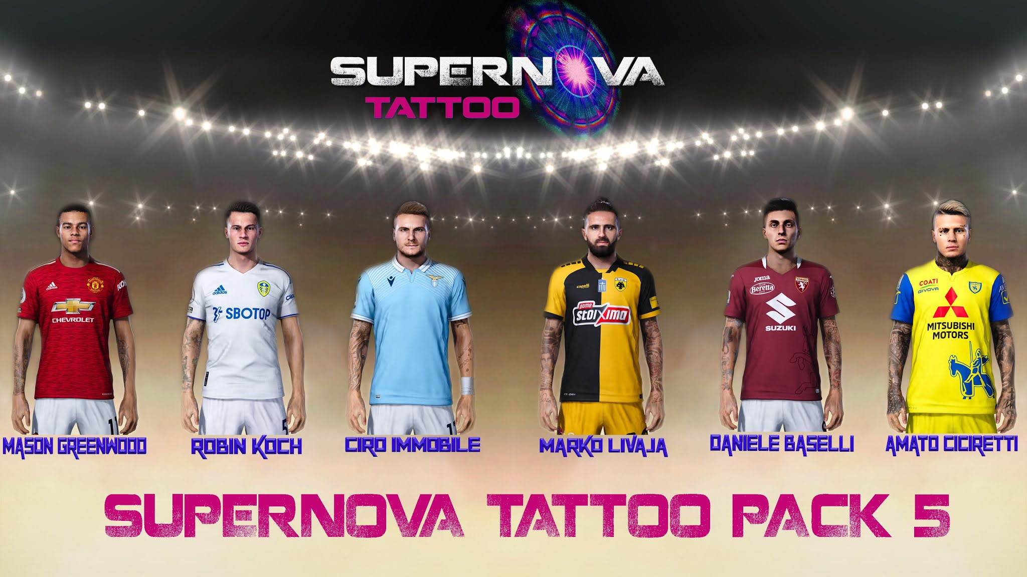 PES 2021 Tattoo Pack 5 by Supernova