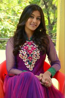Actress Pooja Jhaveri Latest Stills in Purple Salwar Kameezt at Dwaraka Success Meet  0217.JPG