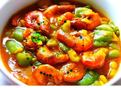 Shrimp recipe with Jang