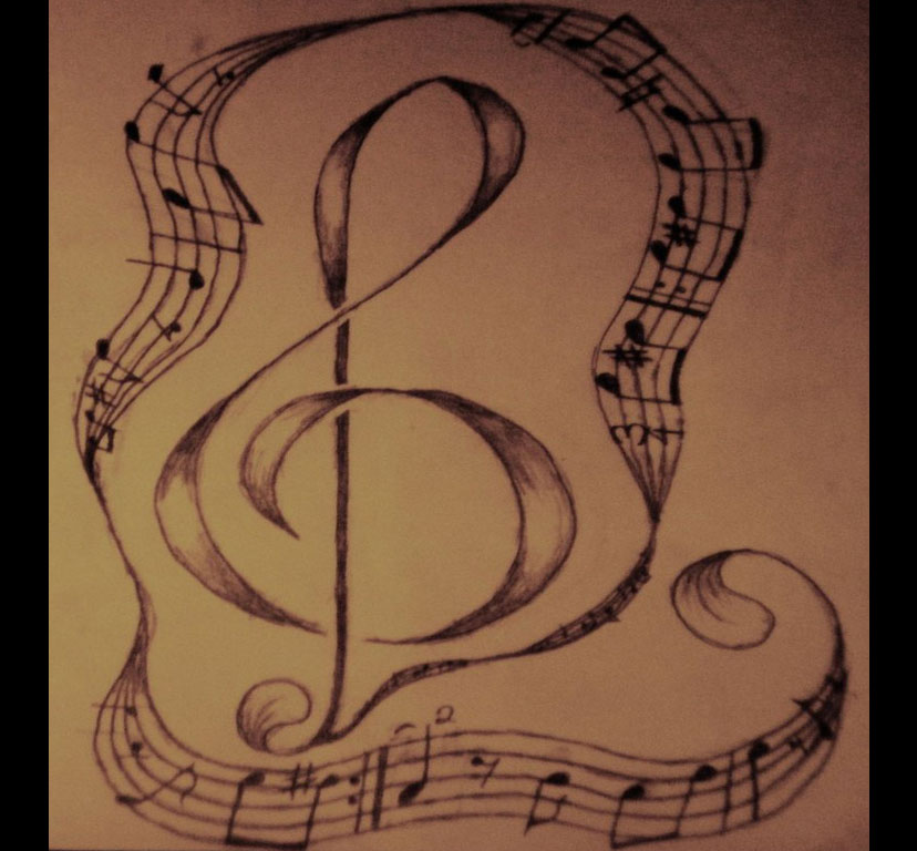 music notes by areoottat - photo #3
