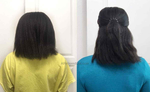 Hair vitamin results on relaxed hair | A Relaxed Gal