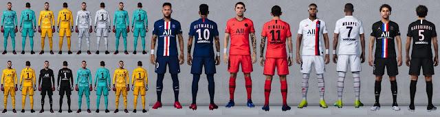 PES 2020 Paris Saint-Germain Kits by Czahny