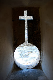 The Chapel of Nossa Senhora de Baluarte is located on the most eastern tip of the Island of Mozambique photo by F H Mira