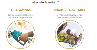 An Android screenshot detailing the two reasons why you should sign up for GasBuddy Premium