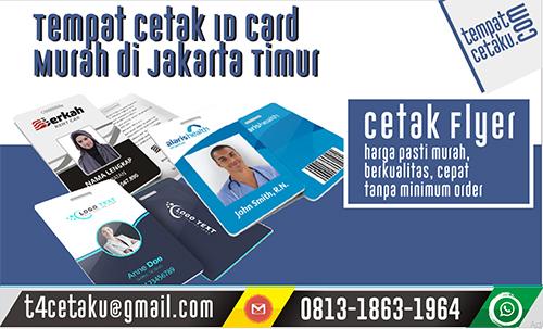 Tempat Cetak ID Card Murah di Jakarta Timur