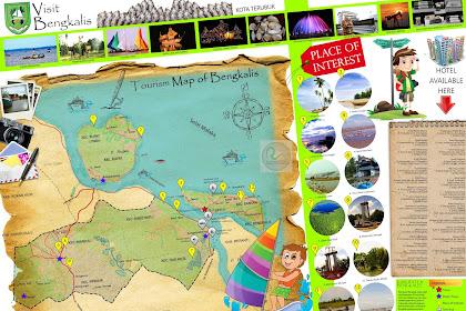 Peta Wisata Kabupaten Bengkalis - Tourism Map of Bengkalis - Riau - Indonesia