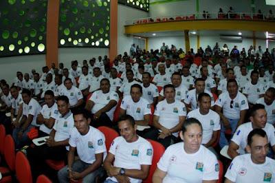 A Secretaria de Estado de Segurança Pública do Amazonas (SSP-AM) realiza capacitação da GCM de Coari