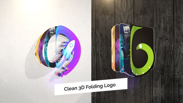 Clean 3D Folding Logo Reveal[Videohive][After Effects][27578221]
