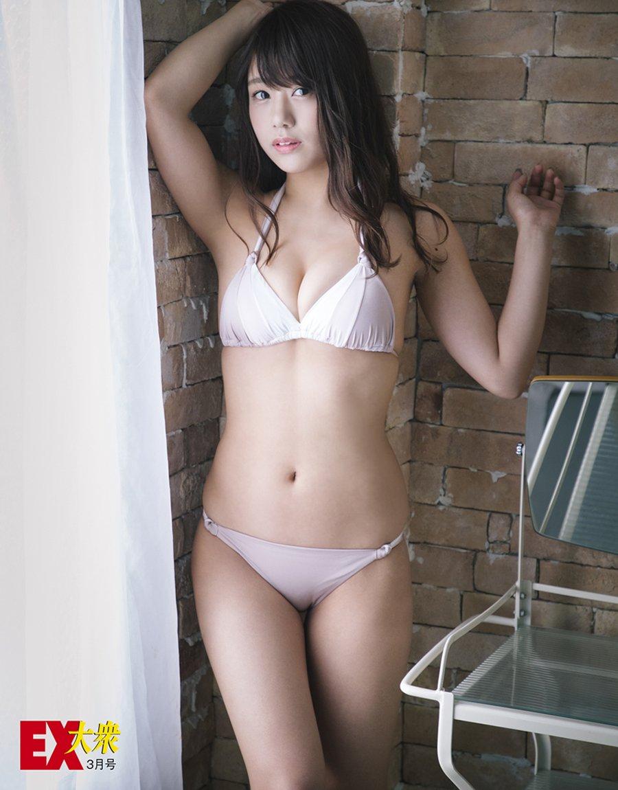 Okita Ayaka 沖田彩華, Yamaguchi Yuki 山口夕輝 NMB48, Ex-Taishu 2017.04 (EX大衆 2017年04月号)