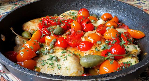 Mediterranean Sauced Chicken Escallopes