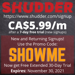 Extended FREE Trial at SHUDDER!